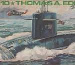 1966 Vintage Mokei Tamiya American Missile Submarine Thomas A. Edison SSDN610 (3)