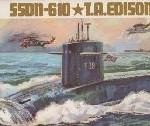1966 Vintage Mokei Tamiya American Missile Submarine Thomas A. Edison SSDN610 (4)