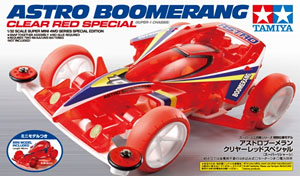 Tamiya 95274 Super Mini 4WD Astro-Boomerang Clear Red Special