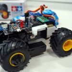 Control a Tamiya Mini 4WD from a smartphone with a Cerevo retrofit kit (6)