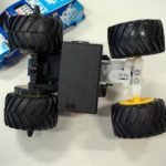 Control a Tamiya Mini 4WD from a smartphone with a Cerevo retrofit kit (7)