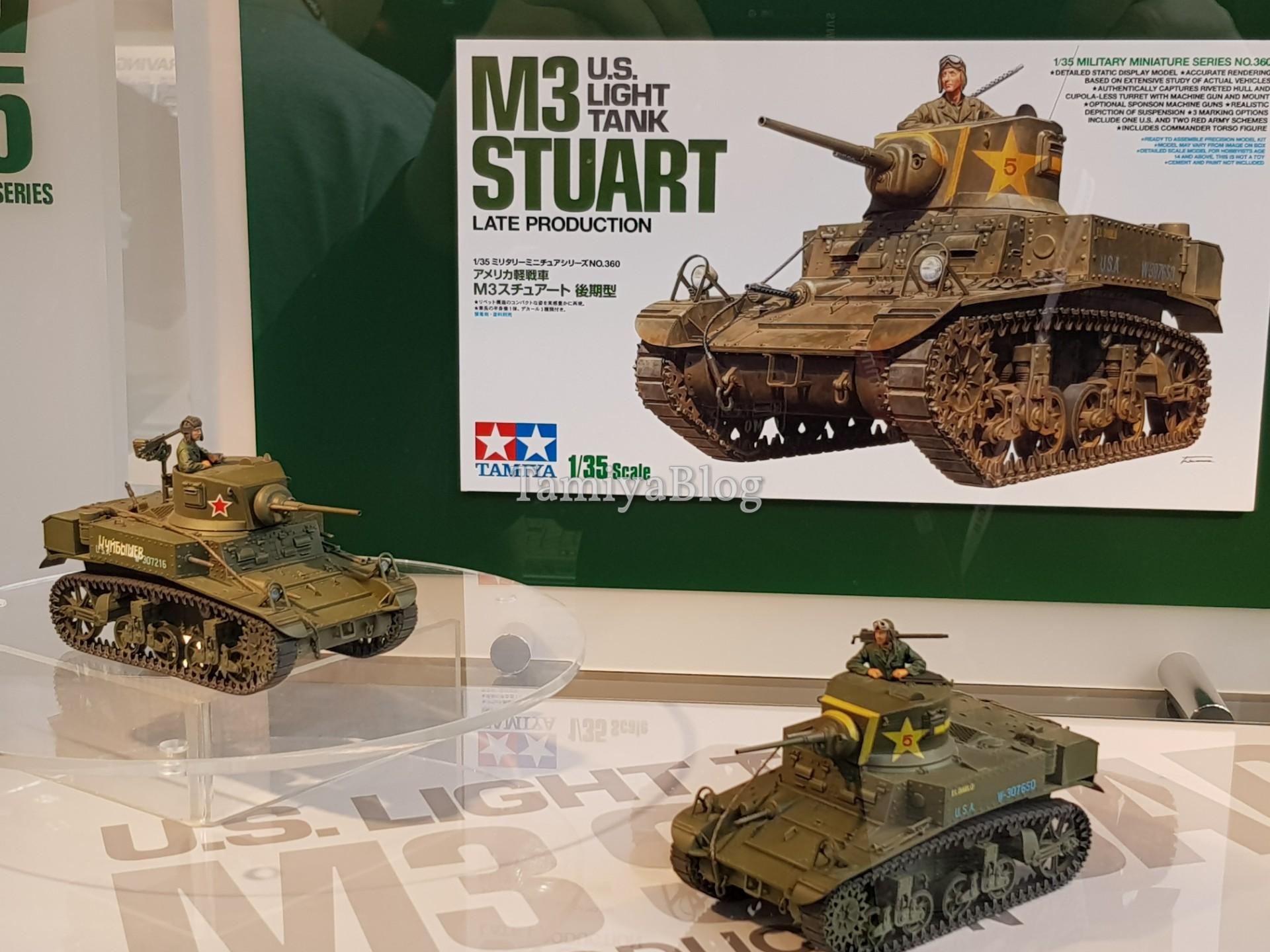 Tamiya 35360 1/35 U.S. LIGHT TANK M3 STUART LATE PRODUCTION @ Nuremberg Toy  Fair 2018