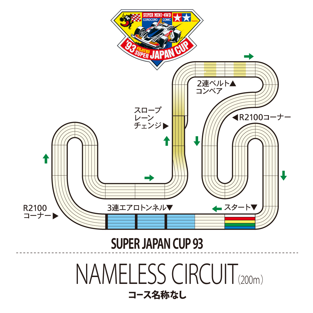 White Tamiya Japan Cup Junior Circuit Straight 4 pieces set Japan import