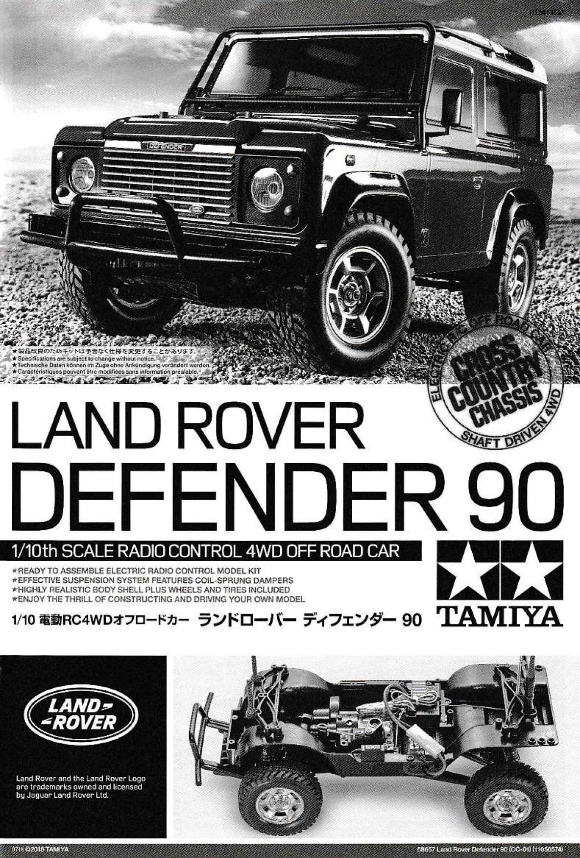 Assembly Manual Of Tamiya 58657 Land Rover Defender 90 Cc 01