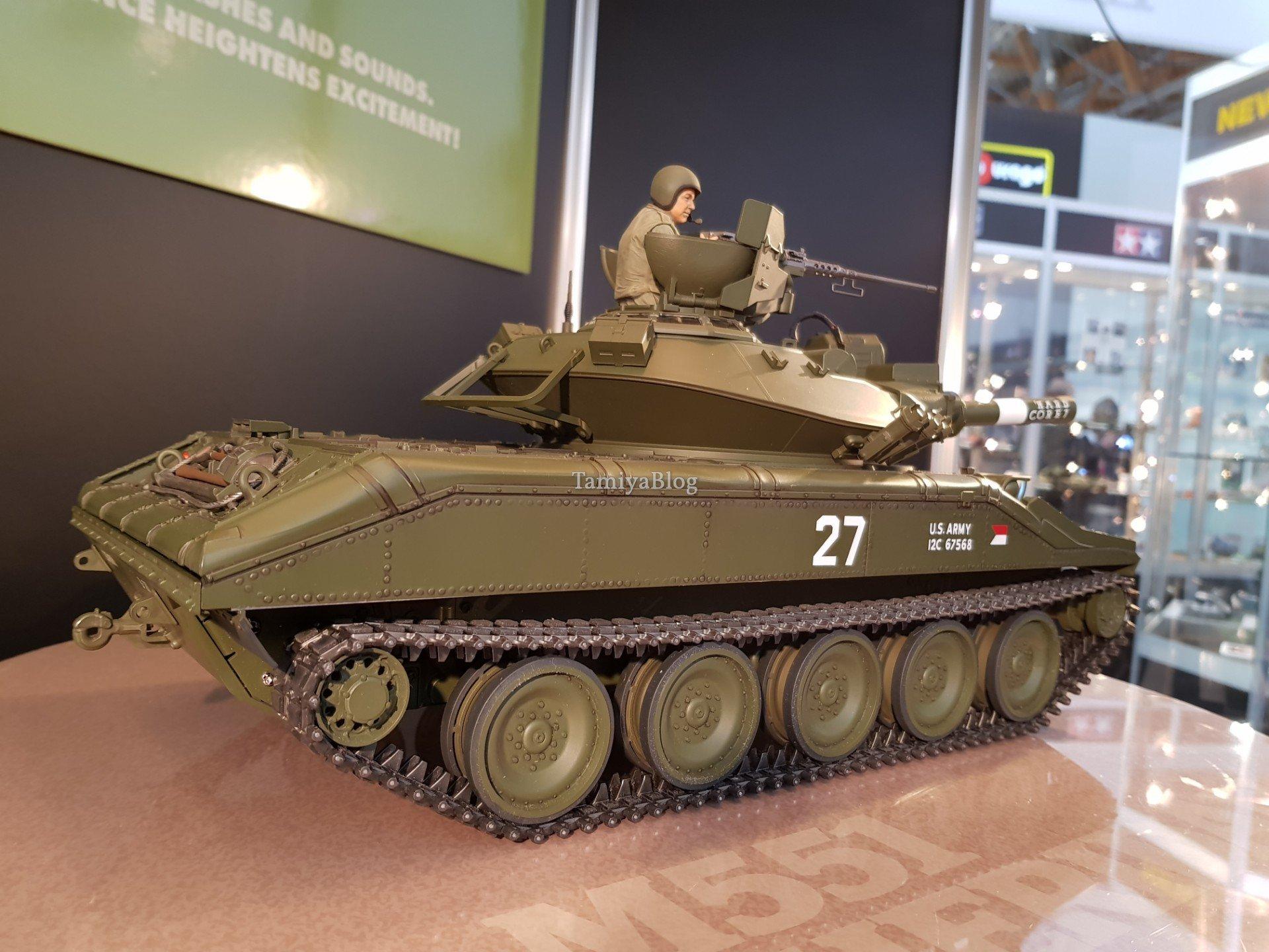 Tamiya 56042 U.S. Airborne Tank M551 Sheridan Full-Option Kit @ Nuremberg Toy Fair 2019 - TamiyaBlog