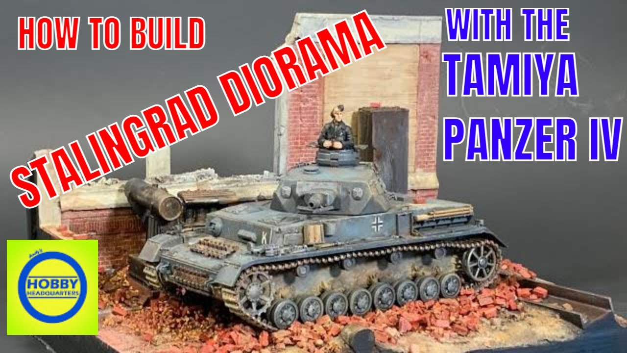 How to build a Panzer IV Stalingrad diorama with the Tamiya 35374 1/35 German Tank Panzerkampfwagen IV Ausf.F