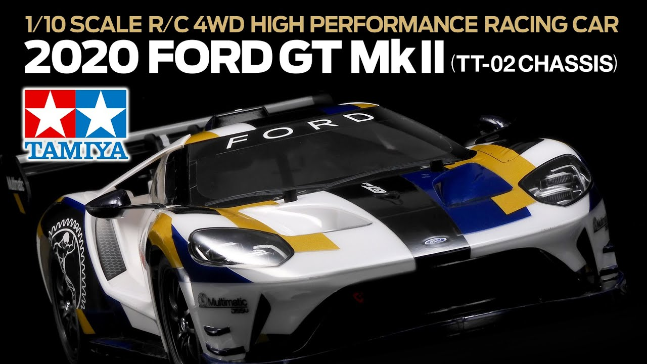 Official product video of Tamiya 58689 1/10 R/C 2020 Ford GT Mk II (TT-02)