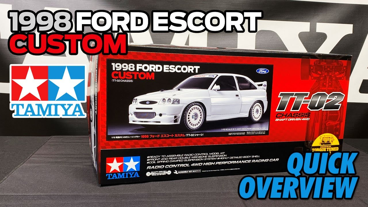 Tamiya 58691 1998 Ford Escort Custom TT02 overview video