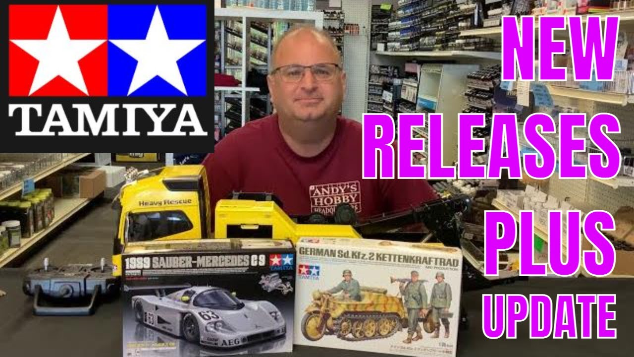 Video reviews of Tamiya 35377 1/35 German Sd.Kfz.2 Kettenkraftrad (Mid-production) & 24359 1/24 1989 Sauber-Mercedes C9